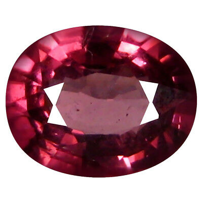 1.19 Ct AAA+ Charmantes Forme Ovale (7 X 6 mm) Rosé Rouge Grenade Rhodolite