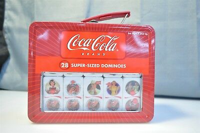 Coca Cola Brand 28 Super Sized Dominoes W/ Case -- Dominos Are Sealed in Plastic