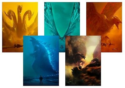 GODZILLA: King of the Monsters, King Ghidorah  A5 A4 A3 Textless Movie posters