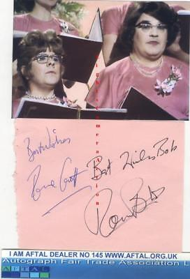 The Two Ronnies vintage signed album page AFTAL#145