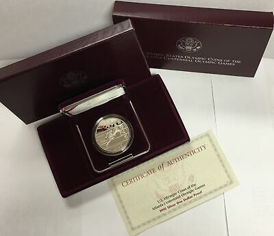 1995-P $1 Olympic - Track Runner - Commemorative Silver Dollar in OGP Proof