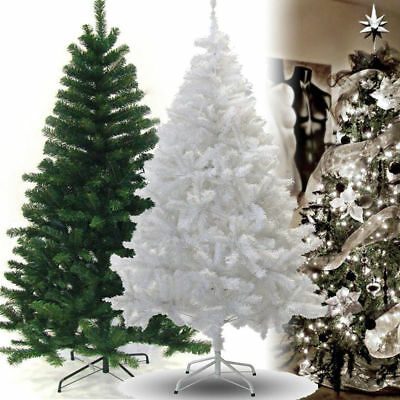 A Christmas Xmas Tree Traditional White Indoor Artificial Decoration Tree
