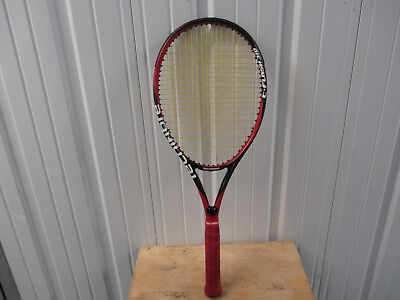 Tecnifibre T-Flash 310 Tennis Racket 4 1/2 Texalium Hexcel Red Black Preowned