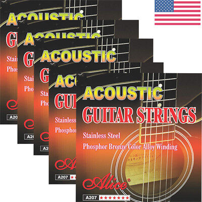 For Acoustic Guitar Strings Alice A207 Super Light .011-.052 Anti-Rust Coating