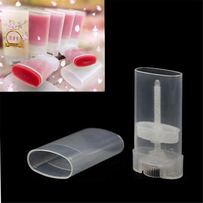 1/2/5PCS 15ml DIY Clear Empty Oval Flat Tubes Deodorant Lip Balm Containers