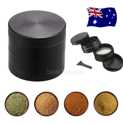 4-Layers Zinc Alloy Black Tobacco Herb Grinder Metal Hand Muller Smoke Crusher A