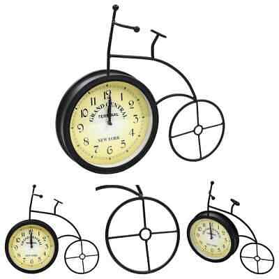 vidaXL Garden Wall Clock Bicycle Design Vintage Outdoor Veranda Timepiece