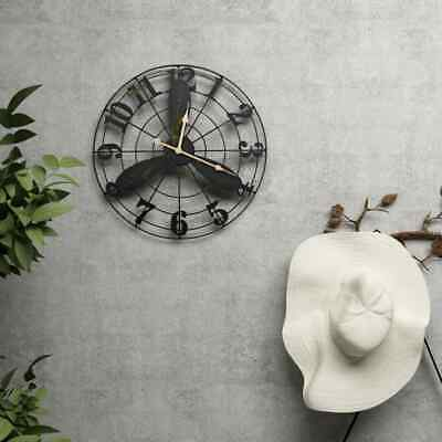 vidaXL Garden Wall Clock Vintage 46cm Outdoor Patio Courtyard Home Timepieces