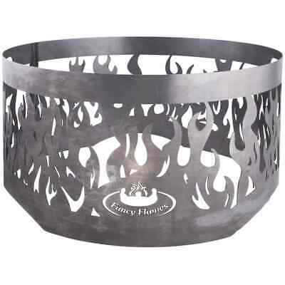 Esschert Design Fire Ring for Fire Bowl Grey Steel Safety Stove Grate FF415