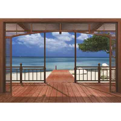 Komar Photo Mural El Paradiso 388x270cm Room Wallpaper Background Decor 8-101