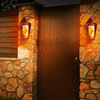Night Sensor Waterproof Solar Wall Lights, Flame Light Garden Torch Lamp LD1572