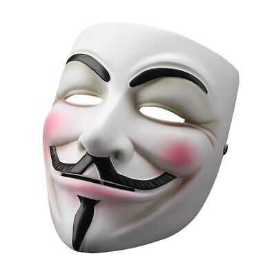 Halloween Mask V for Vendetta Mask Anonymous Fawkes Fancy Dress Costume Cosplay