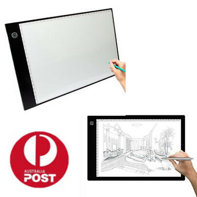 LED Strip A4/A2 Light Box Tracing Drawing Board Art Design Pad Copy Lightbox AU