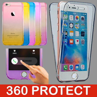 iPhone 7 8 6 Case Shock Proof Crystal Clear Soft Silicone Gel Bumper Cover Slim
