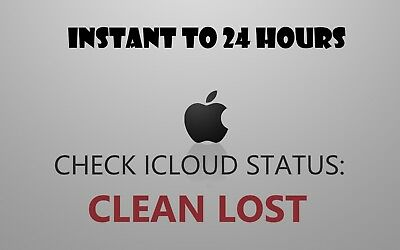 Official Iphone CHECK ICLOUD STATUS CLEAN,LOST 5~X XR XS Instant TO 24 HRS 😃😃