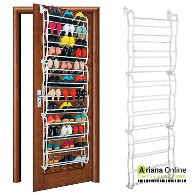 OVER THE DOOR 36 PAIRS Shoe Rack Storage Shelf Stand Organiser Hanging Shoes
