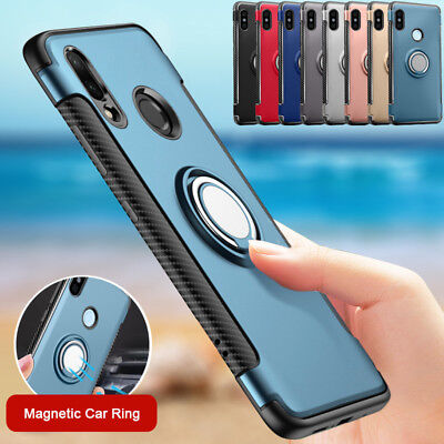 Shockproof Invisible Ring Holder Hard Cover Stand Case For Huawei Honor 8 Lite