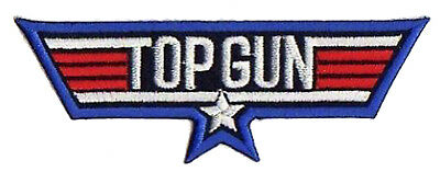 Patche écusson Top Gun film USAF aviation pilote thermocollant transfert patch