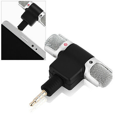 Portable Mini Mic Digital Stereo Microphone Wireless for-Recorder Mobile Phone#*