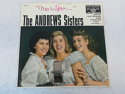 The Andrews Sisters NEAR YOU Vocalion VL3611 Very Good+