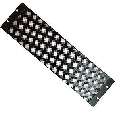"""19"""" 3U Vented Mesh Blanking Rack Patch Panel– Equipment Module Cover Plate Mount"""