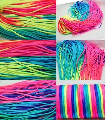 10-100ft RainBow Color 550 Paracord Rope 7 strand Parachute Cord Camping HiKing