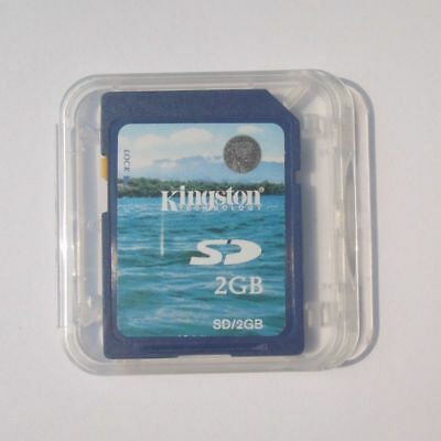 10 x 2GB SD KINGSTON Memory Card Standard 2 GB Secure Digital Generic +Cases NEW