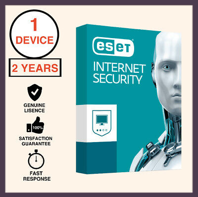 ESET Internet Security 2018-2019 For Windows 1 Device 2 Years License Key Only