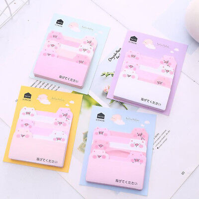 Cute Animal Pink Pig Paper Memo Pads Sticky Notes Office Supplies 1 PC at Random