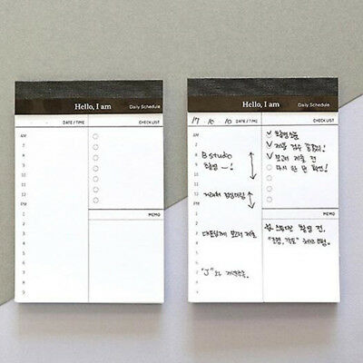 Sticky Notes Memo Pad Message Paper Stick Post Reminder Schedule Office SupplyLG