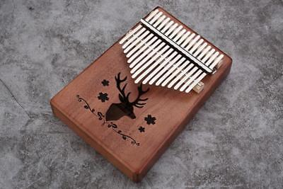 HOT 17 Key Kalimba Single Board Mahogany Thumb Piano Keyboard Instrument lk98