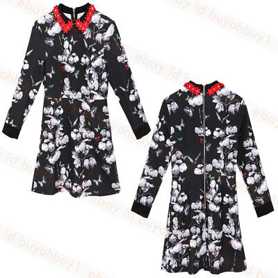 92aee2fcaa58e0 NEW TED BAKER AMALIIA Narnia Collar Dress Black Floral -  89.99 ...