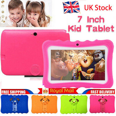 """7"""" Kids Tablet PC Bluetooth for Education Android 4.4 Quad Core 8GB WiFi Camera"""