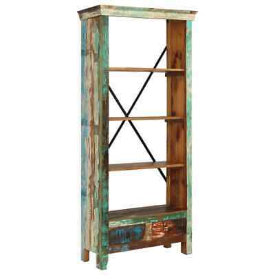 vidaXL Solid Reclaimed Wood Bookcase 80x35x180cm Standing Book Shelves Cabinet