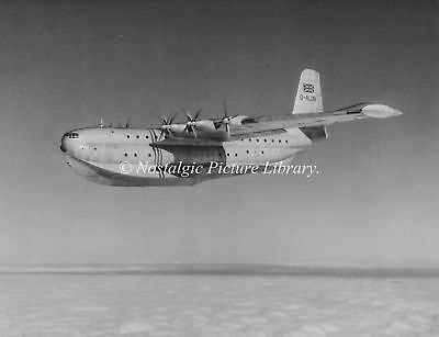 PHOTOGRAPH FB 31 PRINCESS FLYING BOAT  G-ALUN IN FLIGHT OVER COLWELL BAY