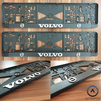 2x License Plate Holder Surround Number Frame Volvo C30 S40 S60 S80 XC40 XC60 90