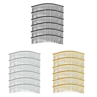 6 pcs Metal Hair Clips Hair Combs Pin Barrette DIY Hair Accessories Findings