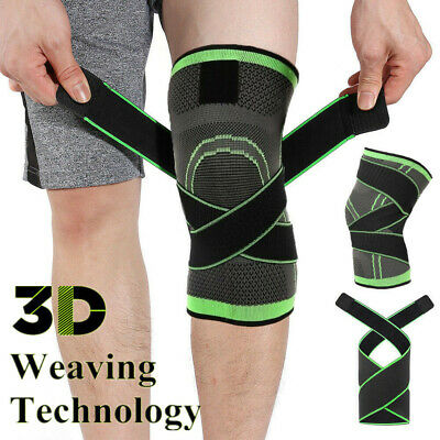 3D Adjustable Strap Elastic Brace Knee Support Compression Sports Protect Pad AU