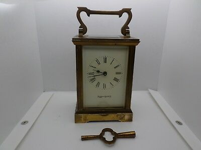 Vintage Carriage Clock MAPPIN & WEBB  + Key In Good Working Order