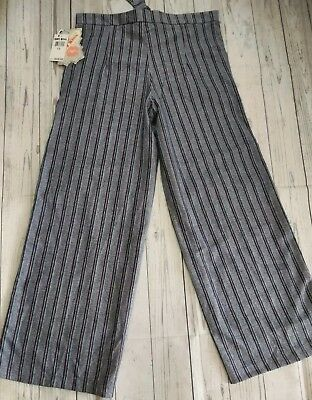 Hot kiss ,Pants women , stripes wide leg color Gray, stily palazzo, brand New