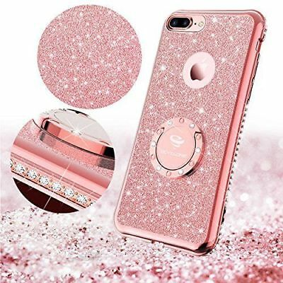 Luxury Bling Diamond Ring Holder Stand Case Cover For iPhone 7 8 Plus 6/6s XR XS