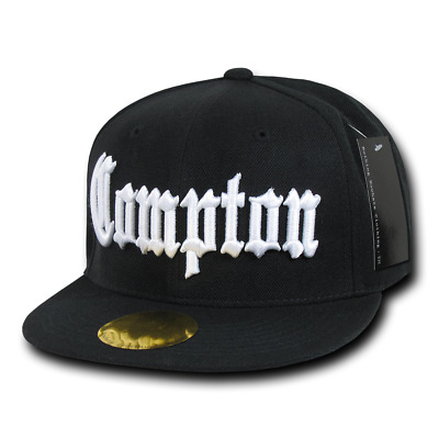 Hip Hop Flat Cap Compton Long Beach Vintage Snap Back Verstellbar Basecap