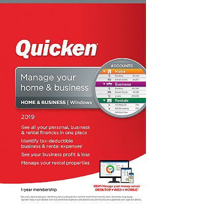 Quicken Home & Business 2019 - digital delivery