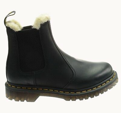 DR. MARTENS 2976 Leonore SCHWARZ Chelsea 21045001 BRUNISHED WYOMING  Warmfutter 7bb94e180b