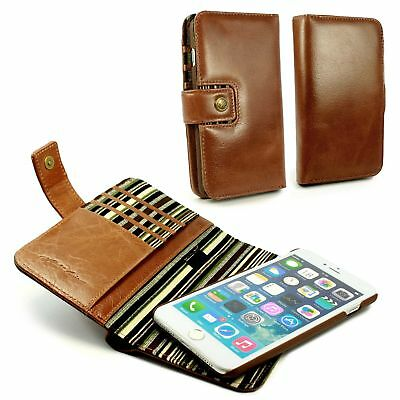 Alston Craig Genuine Leather Magnetic Wallet Case for iPhone 7 / 8 Plus - Brown
