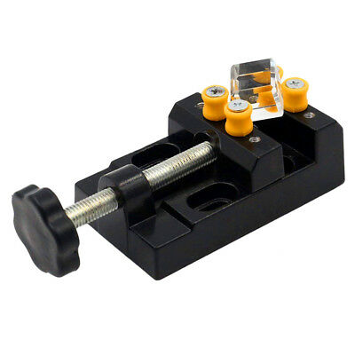Mini Drill Press Small Vise Clamp Table Bench for Crafts Jewerly DIY Carving Bed