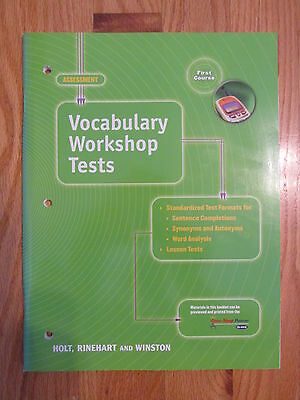 ELEMENTS OF LANGUAGE: FIRST COURSE 7th GRADE VOCAB TESTS HOLT ISBN # 0-03-056298