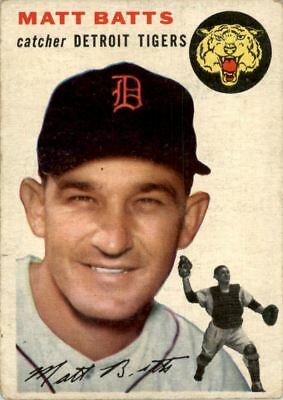 1954 Topps #88 Matt Batts - GOOD