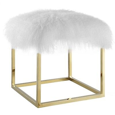 Modway Anticipate Ottoman With Gold White Finish EEI-2848-GLD-WHI