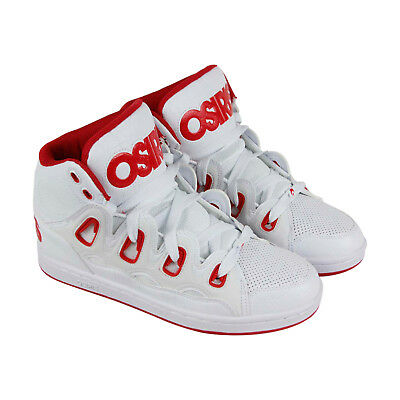 Osiris D3H Mens White Leather Sneakers Lace Up Skate Shoes